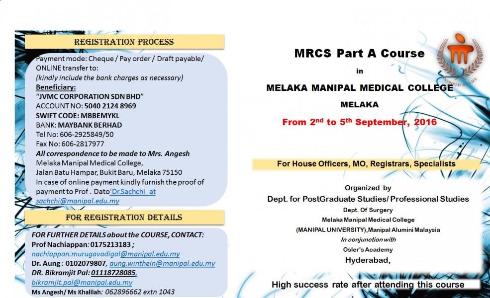 MRCS June 16