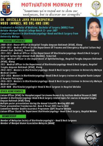 Dr Urscilla Jaya Prahaspathiji