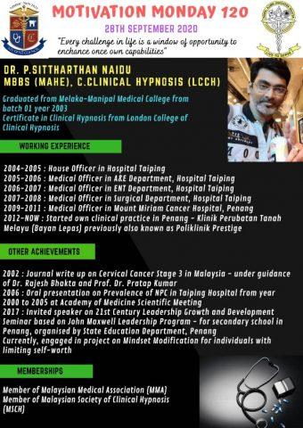 Dr P Sittharthan Naidu