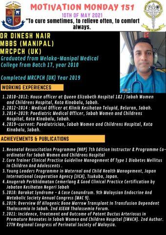 Dr Dinesh, Queen E Hospital, Surgeon, Monday Motivate 20210510